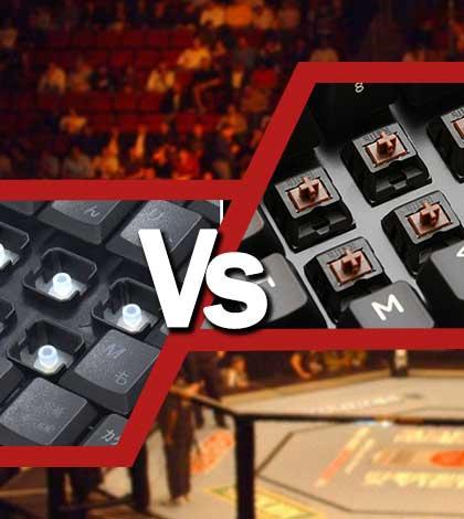 teclado mecanico y teclado de membrana