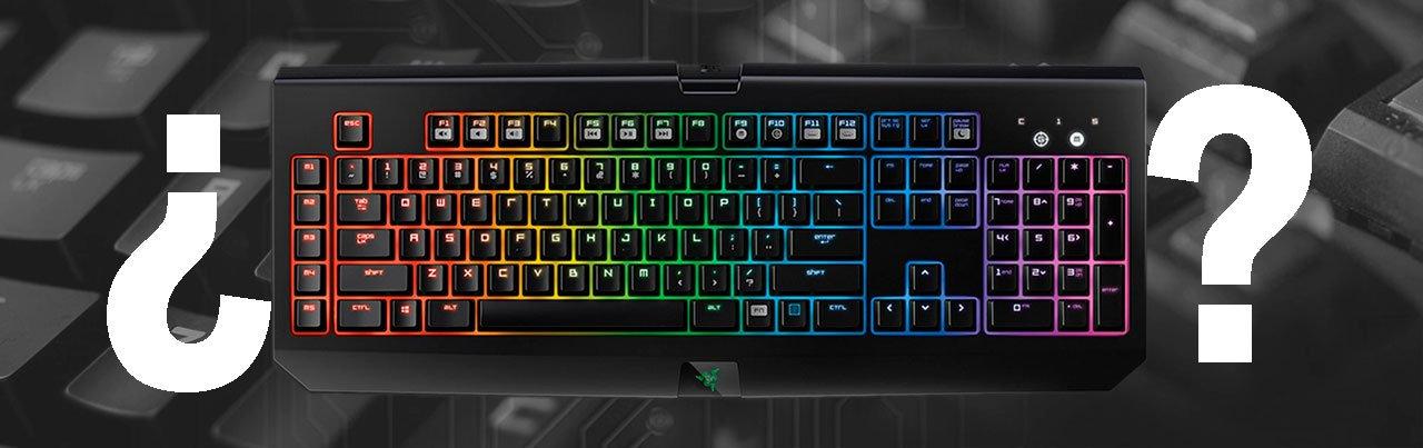 teclado mecanico y tecladod de membrana razer blackwidow chroma
