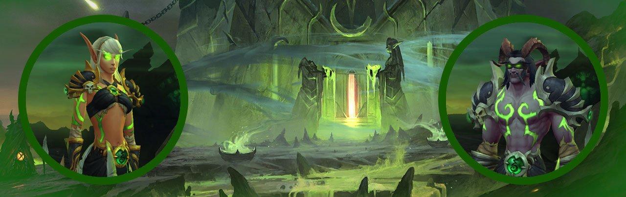 cazadores de demonios razas disponibles night elf blood elf elfo de noche elfo de sangre elfos