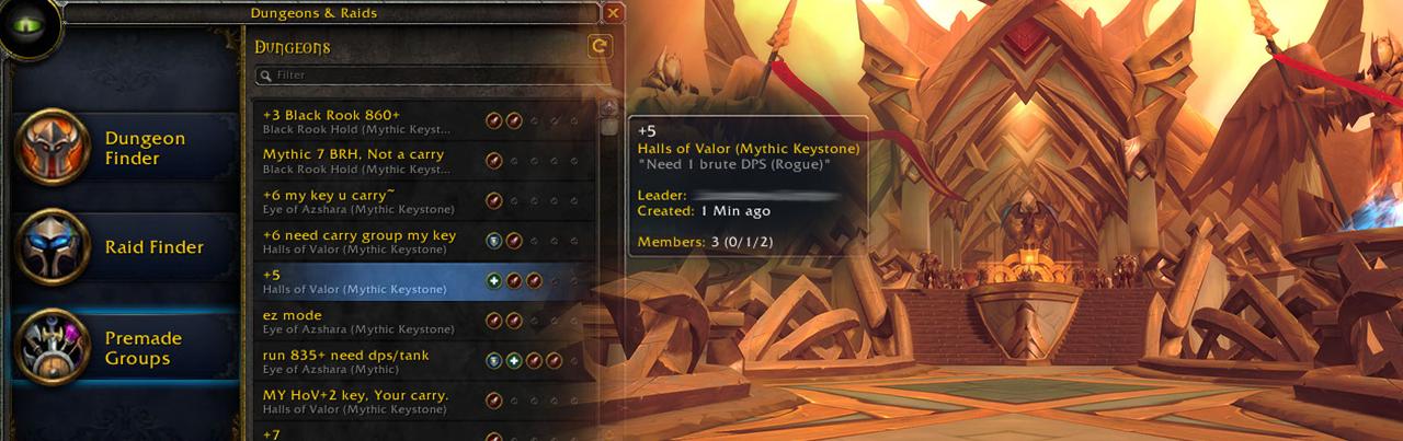 como conseguir legendarios en legion halls of valor dungeons miticas miticas+